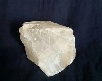 Meditation Crystal Gem // Healing White Selenite Stone // Chakra Balancing // Reiki Cleansing Stone // Selenite Crystal for Mental Clarity