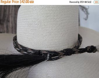 SUMMER SALE Handwoven Horse Hair Western Southwestern Cowboy Cowgirl Hat Band