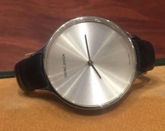 Georg Jensen Concave 316 39mm ladies' watch. Barth Nussbaumer design.