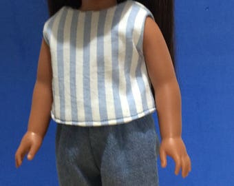 14.5 inch doll clothes, capris and crop top clothes fit Wellie Wisher