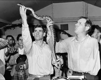Poster, Many Sizes Available; Serpent Handlers At The Pentecostal Church Of God. Lejunior, Harlan County, Kentucky 1946