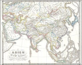 Poster, Many Sizes Available; 1855 Spruner Map Of Asia In The 11Th And 12Th Centuries ( Seljuk Empire, Song China )