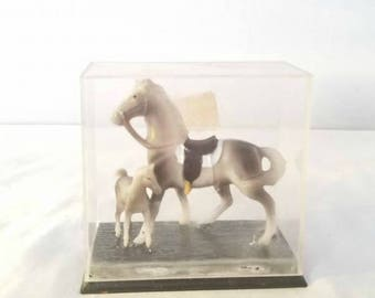 Vintage Mini Horse Figurines,Set of 2,Vintage Horse Toys,Toy Horse,Mama Horse,Horses,Mini Horse Display,Plastic Horse,Vintage Toys,Hong kong