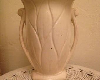 """McCoy Vase -- 8"""" Ivory"""