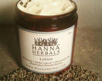On Sale Lavender Herbal Moisturizing Body Lotion = organic lavender - lavender lotion - lavender body cream - herbal lotion - dried lavender