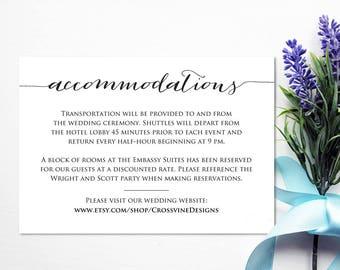 Accommodation cards | Etsy