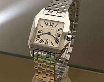 Watch CARTIER Santos Demoiselle lady/Unisex Average size. Excellent condition with boxes and documents.