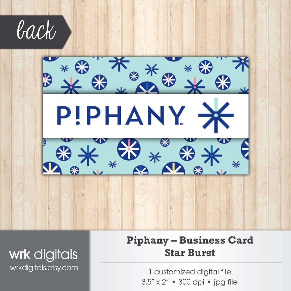 Piphany Business Cards, Star Burst Design, Customized Business Card ...