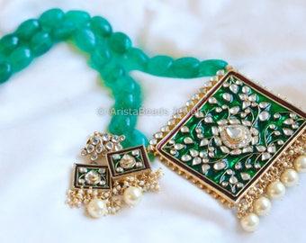 Kundan necklace, Jadau Kundan Necklace,  wedding, Bollywood Necklace, Kundan Necklace, Indian Bridal Jewelry