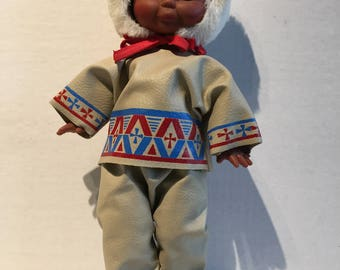 Vintage Native American Indian Doll - Reliable Toy Company Canada