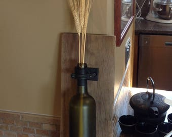 Rustic Wine Bottle Sconce