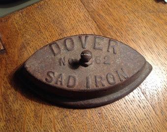 Vintage  SAD IRON DOVER No 62