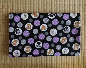 cotton japan shiba inu dog fabric 1/2 yard