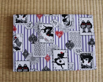 alice in wonderland  Fabric 1/2 yard Purple