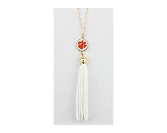 Clemson Tigers Tassel Necklace