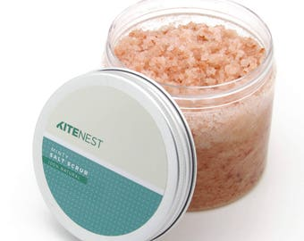 Minty Body Scrub, Pink Himalayan Salt with Avocado Oil, Vitamin E and Coconut Oil.