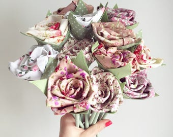 Faux Flowers - Bunch of 15 Fabric Flowers