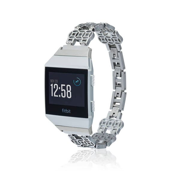Fitbit Ionic Band -  Flower - more colors available - stainless steel and zirconia stones