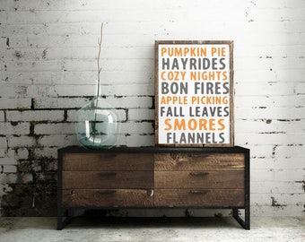 Fall Must Haves|Wood Sign