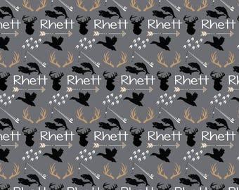 Personalized Baby Blanket Monogrammed Baby Blanket Name Blanket Deer Blanket Antler Arrow Blanket, Woodland Blanket, Hunting Blanket