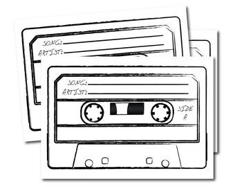 20 X Custom Song Request Cards Wedding DJ Birthday Card Karaoke