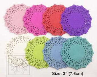 20, 40, 60, 80, 100 Sheets - 3 inch Doilies, French Lace Paper Doilies, Color Doilies