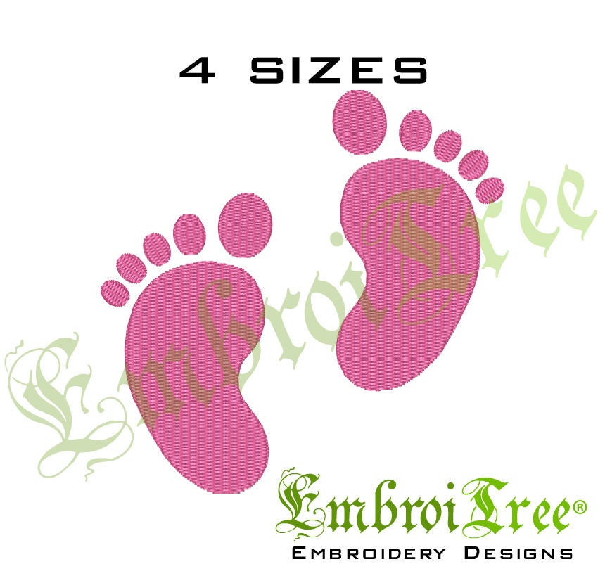 baby feet embroidery design machine embroidery baby footprint embroidery designs newborn baby. Black Bedroom Furniture Sets. Home Design Ideas