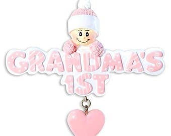 Personalized Grandma's 1st ornament/Baby's First/1st grandchild