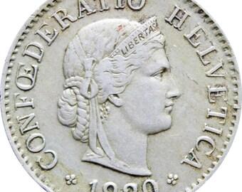 1920 5 Rappen Switzerland Coin