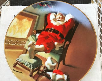 edwin m. knowles 1991 christmas collectors plate