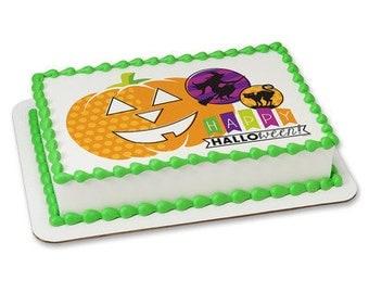 Halloween edible cupcake toppers, Halloween edible cake topper, Halloween edible decor, Halloween party, Halloween candy, halloween birthday