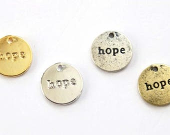 3pcs round hope letter pendant charm AC210 jewelry for women teens girls baby cute cool necklace bracelet anklet earrings