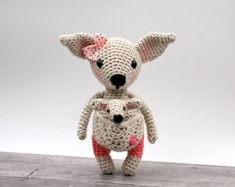 Crochet pattern: Amelia the mini kangaroo