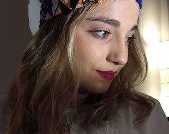 Turban style headband, African fabric