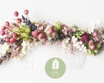 Dried Floral Haircomb