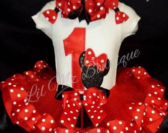 Minnie mouse tutu outfit, minnie mouse tutu, minnie mouse tutu set, minnie mouse birthday outfit, minnie mouse tutu dress, minniemousedress