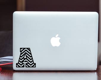 Chevron Monogram Vinyl Decal Sticker Choose your Color and Size