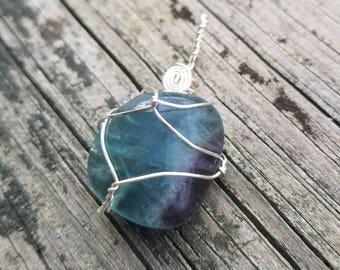 Rainbow Fluorite Necklace for Deep Peace and Cosmic Truth