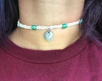 Sagittarius Hemp Choker Necklace