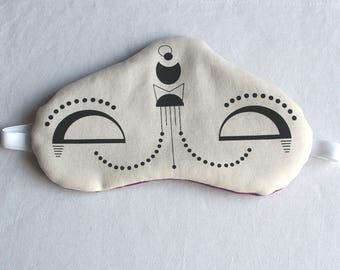 "Sleeping mask ""Adrika"" organic cotton and fleece"