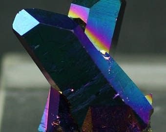 Rainbow Titanium Aqua Aura Quartz Crystals for Sale