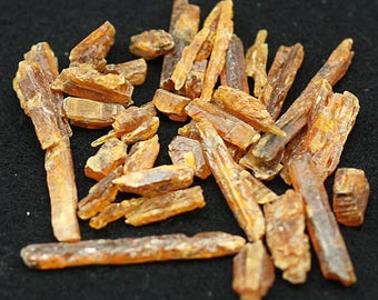 ONE Bag of orange bladed Kyanite crystals, Tanzania - Mineral Specimens/Gemstones for Sale