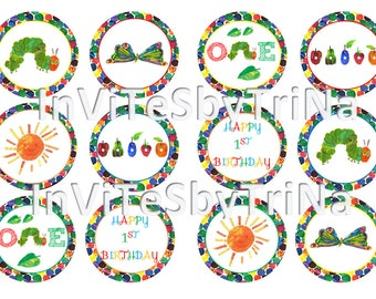 The Very Hungry Caterpillar Cupcake/Cake Toppers