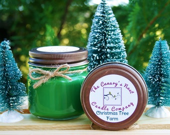 Christmas Candle, Christmas Tree Scented Candle | Christmas Tree Farm Candle, Pine Candle, Spruce Candle, Holiday Candle, Christmas Gifts