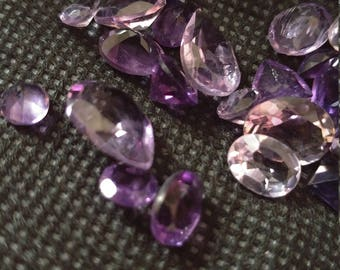 Mixed Lot  Faceted Amethyst