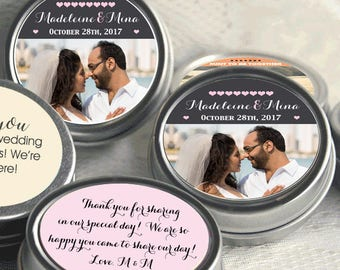 125 Mint to Be Picture Photo Wedding Mint Tins - Wedding Mint Tins - Mint to Be - Tin Mints - Personalized Mints - Wedding Decor