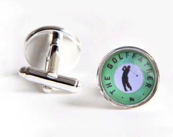 The Golf Father Novelty Golfing Dad Fathers Day Wedding Birthday Gift Cufflinks