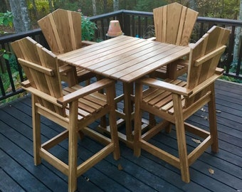 Custom Adirondack Patio Table and Chairs