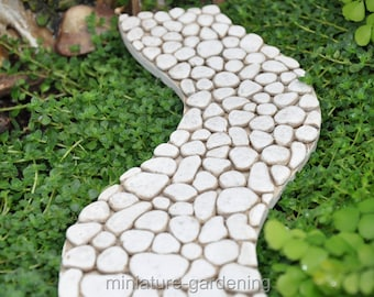 Curved Stone Path for Miniature Garden, Fairy Garden