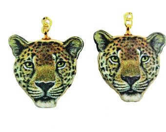 Leopard Earrings Realistic
